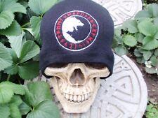 wolf circle runesblack embroiderd beanie hatthors hammer Asatru black sun