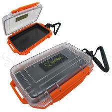 Scuba Diving Dive Waterproof Orange Dry Box Case Container w/ Lanyard