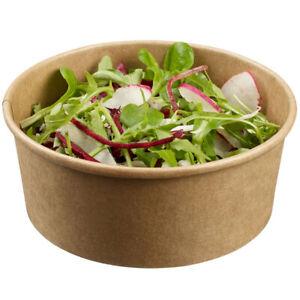 Kraft Compostable Biodegradable Salad / Deli Bowls (750ml) - Optional Lids