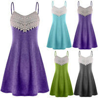 Fashion Women V-Neck Lace Sleeveless Backless Mini Slip Dress Camisole Dress 0