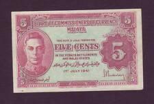 1941  Malaya 5 centS   (SC8/L20)