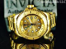 NEW Invicta 52mm Reserve SKULL HYDROMAX Swiss Movement 18K GP Gold Dial SS Watch