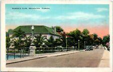 1920s Florida Postcard Woman's Club Bradenton Fl Manatee River Ave & Virginia Dr