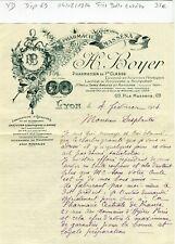 Dépt 69 - Lyon 69 Rue Massena - Très Belle Entête d'une Pharmacie du 04/02/1914