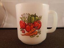 VINTAGE GLASBAKE VEGETABLE COFFEE CUP / MUG MILK GLASS #51 Heat Resistant Good