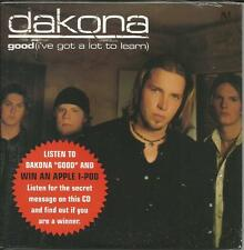DAKONA Good I've got a lot to learn PROMO radio DJ CD single SEALED 2003
