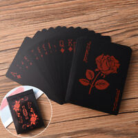 Schwarz Kunststoff Poker Magic Spielkarten Hochwertige Wasserdichte TischspielCN