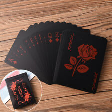 Negro plástico PVC Poker magia cartas de alta calidad impermeable juego de mesa