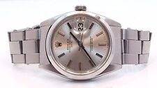 Rolex Date Midsize 1500 34mm Silver Index Dial Circa 1960 Vintage