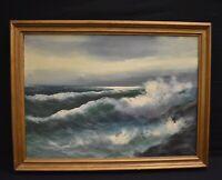 Vintage Seascape Oil Painting Signed Calandra?