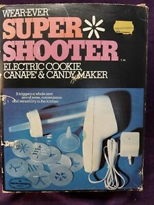 Super Shooter by Wear Ever #70001 Electric cookie canapés candy maker COMPLETE!