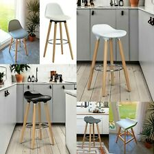 BREAKFAST BAR STOOL SWIVEL HOME KITCHEN PUB BAR HIGH CHAIR STOOLS WITH FOOTREST