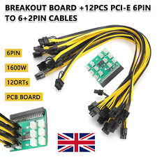 More details for breakout board server adapter power supply with cables for hp dell psu gpu 1600w