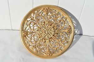 ANTIQUE LARGE ORNATE BRONZE PEDESTAL PASTRY/CAKE STAND TAZZA