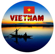 VIETNAM, SOUTHEAST ASIA -  SOUVENIR NOVELTY ROUND FRIDGE MAGNET - GIFTS / SIGHTS