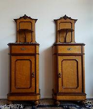 magnifique paire de meubles d'apparat époque Charles X en bois clair