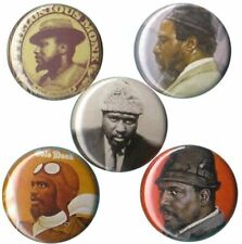 Thelonious Monk Set of 5 Buttons-Pins-Badges |jazz great| Straight No Chaser