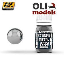 Xtreme Metal  Polished Aluminum Metallic Paint 30ml Bottle - AK Interactive 481