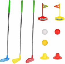 Kids Golf Play Set Mini Golf Club Set Retractable Early Educational Outdoor Toy