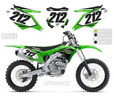 KAWASAKI MOTOCROSS BACKGROUNDS NUMBER BOARDS MX GRAPHICS KX 65 85 125 250F 450F