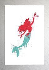 Ariel-la sirenetta-Disney Art-Effetto Splash-Taglia A4