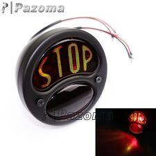Black STOP Tail Light Lamp For Chopper Bobber Cafe Racer Motorcycle Old School