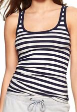 Nwt Gap Women's XXL Stretch Navy Blue & White Striped Tank Sleeveless Top 2X New