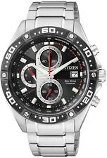 NEW MENS CITIZEN SOLAR ECO DRIVE SUPER TITANIUM CHRONOGRAPH SAPPHIRE CA0030-52E