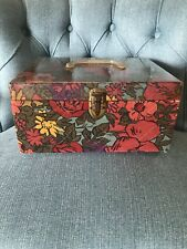 Vintage Sewing Case Lucite Handle Quilted With Vtg Sewing Supplies