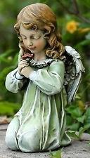 """12"""" Kneeling Praying Angel with Rose Indoor Outdoor Garden Decor Statue # 60199"""