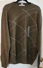 Geoffrey Beene Fine Gauge 100% Cotton Green Sweater For Men Size L