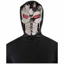 Mens Adults Dark Robot Face Mask Sci-fi Movie Film Space Superhero Villain Baddy