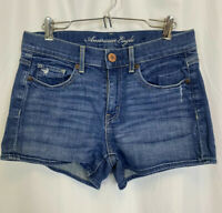 American Eagle High Waisted Stretch Blue Jean Shorts Women's Size 4 Medium Wash