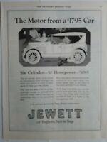 1922 Jewett 6 cylinder 50 horsepower motor car vintage ad