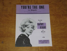 KATHY KIRBY - YOU'RE THE ONE - ORIGINAL UK SHEET MUSIC