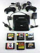 Sega GENESIS Model 2 console with 6 Games TESTED MK-1631 3D Ballz NBA NFL NHL wf