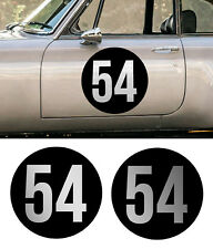 CASTROL noir /& argent autocollants rond 100mm paire voiture course racing Classic