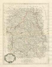 """""""CARTE du gouvernement de Champagne et Brie"""". FRANCE. SANTINI/Bonne Carte de 1784"""