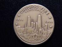 1971 CHICAGO FIRE CENTENNIAL TOKEN!   YY170XNX