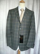 DAKS Brand New Grey Large Check Jacket 40R RRP £495
