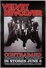 VELVET REVOLVER  -  CONTRABAND   -  ORIGINAL ROLLED ROCK PROMO POSTER (2004)