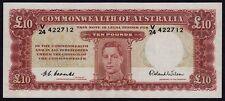 10 Pounds Coombs / Wilson King George VI - V24 Last Prefix - EF (R61L)