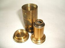 Antique Brass Microscope Objective Lens