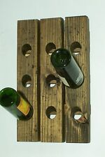 Riddling Rack Distressed Wood Antique Style Mini Winerack