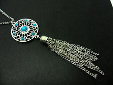 """A LOVELY TIBETAN SILVER  DREAMCATCHER NECKLACE ON 28"""" CHAIN. NEW."""