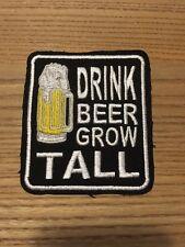Aufnäher Patch Kutte Biker 1% MC Trinker Bier Drink Beer Grow Tall Alcohol