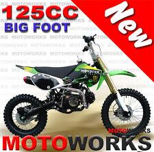 MOTOWORKS 125cc BIGFOOT DIRT TRAIL PIT MOTOR 2 WHEELS PRO BIKE Kick start green