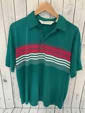 VTG ARNOLD PALMER Short Sleeve Golf Polo Shirt Green White Size Large A4