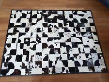 Patchwork Teppich aus Rinderfell schwarz Braun/weiß - 240 cm x 180 cm, RUG, NEU