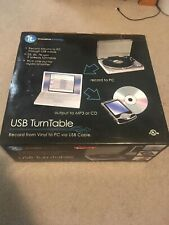 IT INNOVATIVE TECHNOLOGY USB TURNTABLE ITUT-400 VINYL RECORDS TO MP3 **NEW**